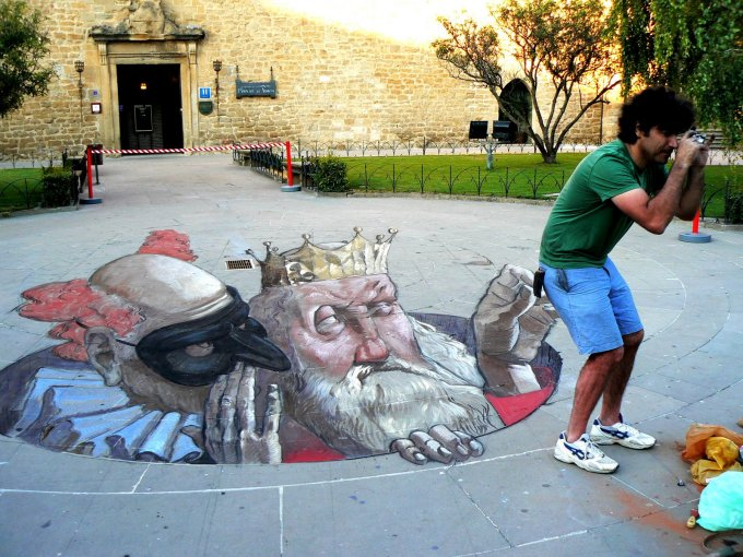 Click here to see more images of the Sarasota Chalk Festival artwork